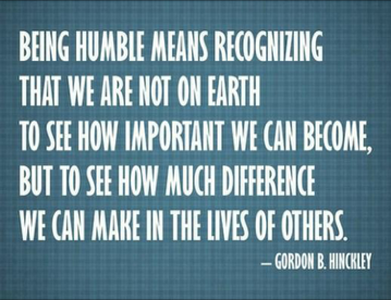 013 - Being Humble Means