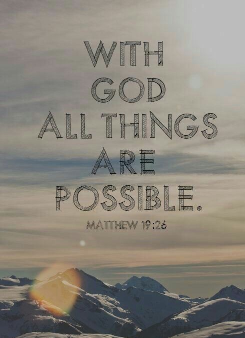 God all things possible