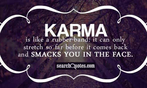 Karma rubber band
